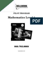 Mathematics Level 1 Pilot Program