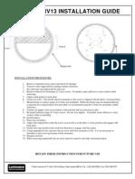 Installation Sheet for ARV and YRV 13