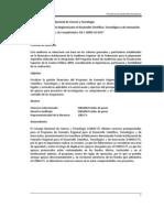 2009 Programa de Fomento Regional para el Desarrollo Científico, Tecnológico y de Innovación