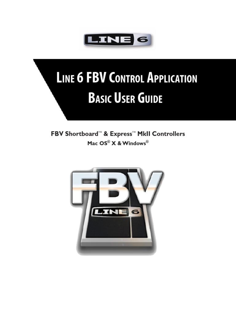 FBV Control Application Basic User Guide (Rev B) - English | Installation  (Computer Programs) | Usb
