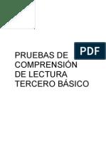 PRUEBAS DE COMPRENSIÓN DE LECTURA 3°-1