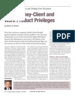 IDQ Attorney Client Privilege Article