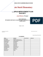 2010-2011 Campus Improvement Plan - Stark
