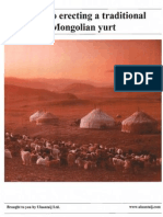 Guide to erecting a traditional mongolian yurt