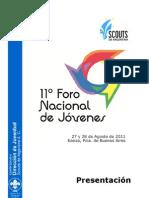 Presentación 11º Foro Nacional de Jóvenes - Scouts de Argentina