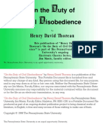 Henry David Thoreau - On the Duty of Civil Disobedience