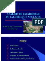 Analisis de ad de Taludes Con Anclajes