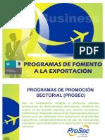 Programas de Fomento a La Exportacin