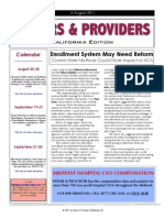 Payers & Providers California Edition  – Issue of August 4, 2011