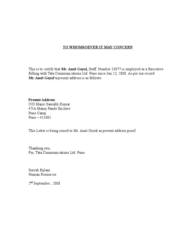 Proof Of Address Letter Template from imgv2-2-f.scribdassets.com