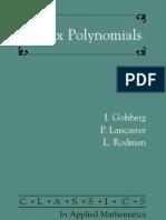 Matrix Polynomials