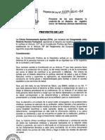 Proyecto de Ley 4289. Registro Único de Historias Clínicas Electrónico