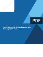 VMware Using HA DRS vMotion With Exchange 2010 DAGs