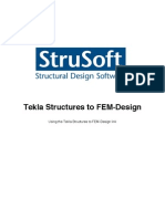 Tekla Structures 16 to FEM-Design Link Manual