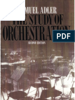 Samuel Adler the Study of Orchestration 2nd Ed