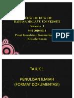 TAJUK 2- Format Dokumentasi APA