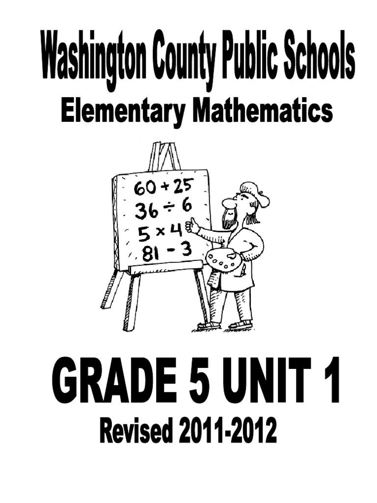 Workbooks everyday math workbook : Grade 5 Unit 1 2011-2012 FINAL | Fraction (Mathematics) | Division ...