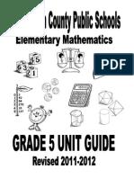 Grade 5 Unit Guide Overview 2011-2012 FINAL