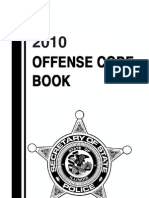 2010 Offense Code Booklet