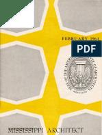 Mississippi Architect, February 1964