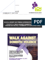 S.O.F.I.A Domestic Violence Walk - 9/10/11 Canterbury Park