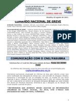 Informe de 2 de agosto de 2011 do Comando Nacional de Greve