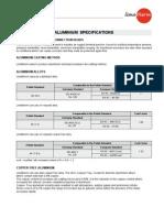 Aluminium Specification