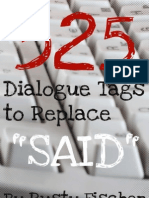 """325 Dialogue Tags to Replace """"Said"""" (R. Fischer)(R. Fischer)(2011)()"""