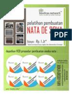 Dapatkan VCD Prosedur Pembuatan Nata (Nata de Coco, Nata de Soya, dll)
