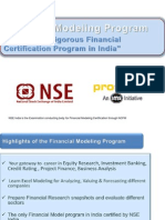 Financial Modeling Program April 11 1