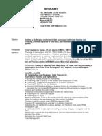 IBS Resume