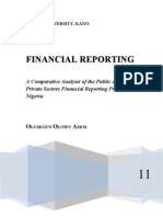 A Comparative Analysis of the Public and Private Sector's Financial Reporting Practices in Nigeria