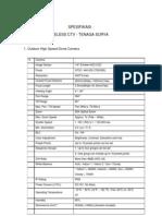 Spesifikasi Wireless Cctv Tenaga Surya