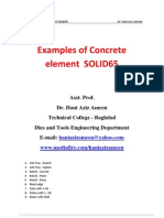 Examples of Concrete Element SOLID65- Hani Aziz Ameen