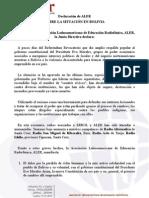 declaracion aler bolivia 110908