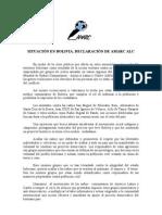 declaracion amarc bolivia 120908