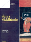 Saiva Siddhanta an Indian School of Mystical Thought.(H.schomerus)(Delhi,2000)