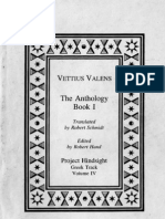 Vettius Valens - The Anthology, Book I