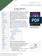 Chemical Vapor Deposition - Wikipedia, The Free Encyclopedia