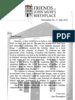 FoJMB Newsletter 2011 07