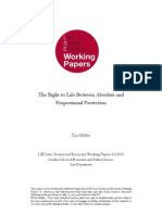 The Right to Life Between Absolute and Proportional Protection Kai Möller