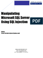 Manipulating SQL Server Using SQL Injection