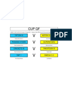 CUP QF - Games to be played 07/08/2011