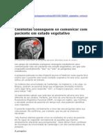 Cientistas Conseguem Se Comunicar Com Paciente Em Estado Vegetativo