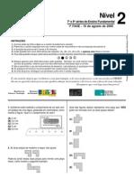 OBMEP prova fase 1 nível 2-2005