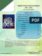 BUDGET_2011.PptxAnalysis by Dhanpal