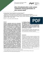 Enzyme Activity During Germination_determination