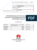 52 GSM BSS Network PS KPI (Downlink TBF Establishment Success Rate) Optimization Manual