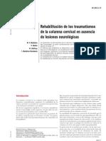 Rehabilitacion de Los Traumatismos de La Columna Cervical en Ausencia de Lesiones Neurologicas