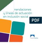 Guia de Recomendaciones y Líneas de Actuación en Inclusion Social